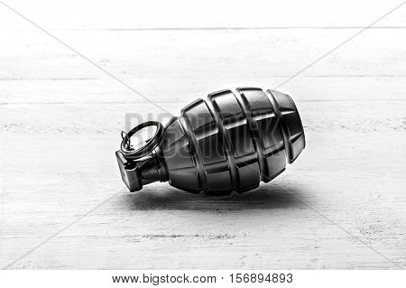 Hand Grenade With The Pin In
