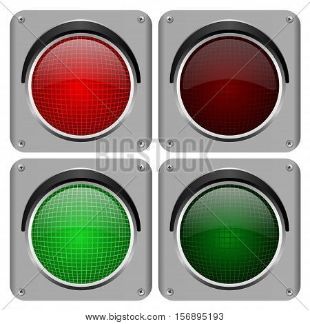 Traffic lights isolated on a white background