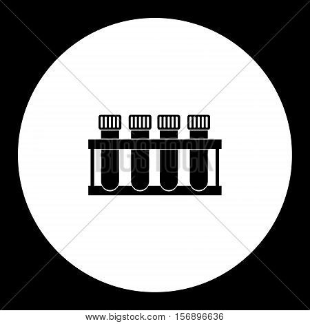 Science Laboratory Glass Tubes For Blood Black Icon Eps10