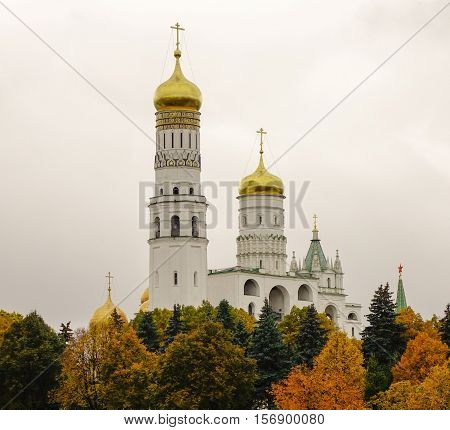 St. Basils Cathedral On Red Square In Moscow