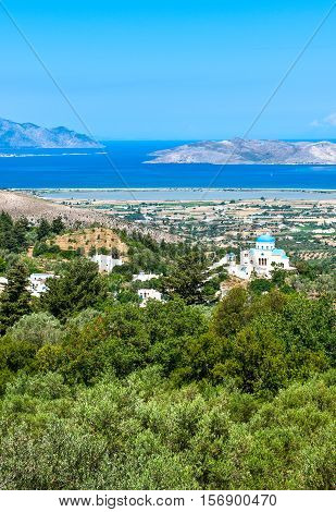 Greece Dodecanese Kos view on the islad from Zia village