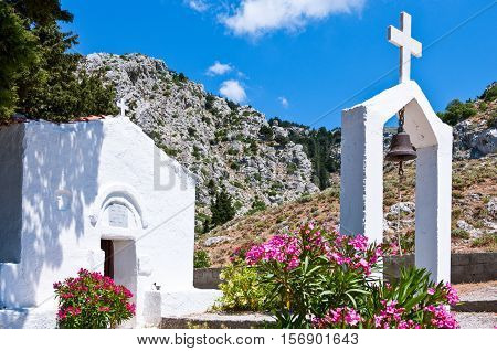 Greece Dodecanese Kos Agios Vasili church in Pili village