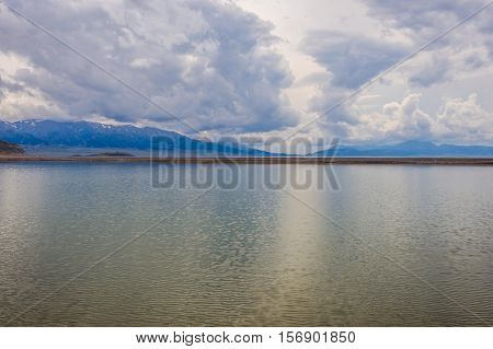 Landscapes At Sayram Lake, China