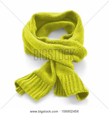 Citric warm scarf on a white background