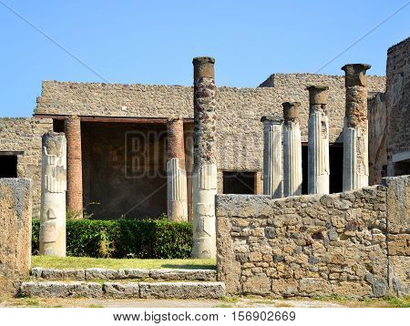 Ancient Roman city of Pompeii, Campania, Italy.