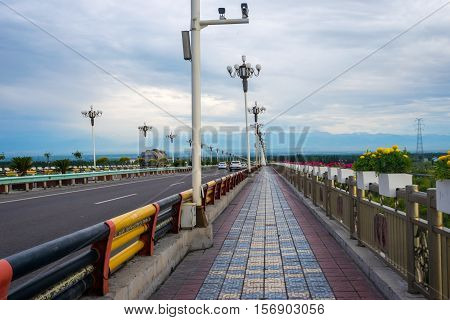 Bridge Over Yili (ili) River, Yining, China