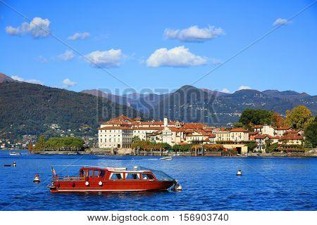 Scenic view of the Isola Bella, Lago Maggiore, Italy, Europe