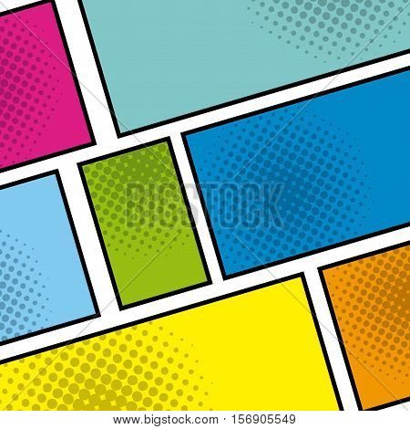 pop art background style poster. colorful design. vector illustration