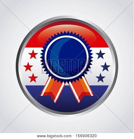 button with winner medal of usa design. colorful design. vector illustration