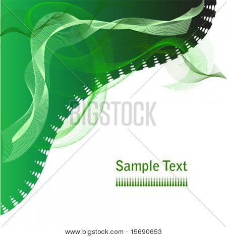 Vector abstract green swirls