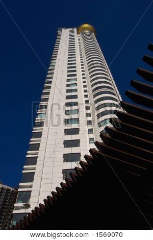 Futuristic architecture in the city
