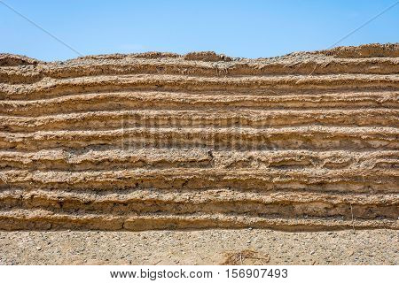 Chinese Great Wall Detail, Gobi Desert