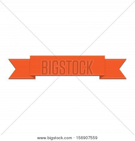 Orange Ribbon Vector