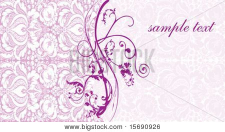 Elegant pink swirly background image