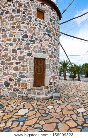 Greece Dodecanese Kos an old mill in Antimachia village