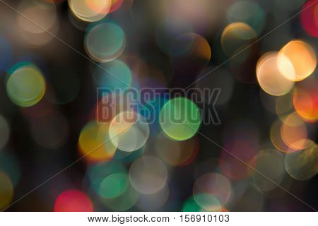 Abstract photo of backlight reflector and glitter bokeh ligh