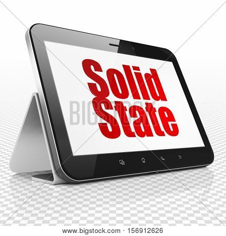 Science concept: Tablet Computer with red text Solid State on display, 3D rendering