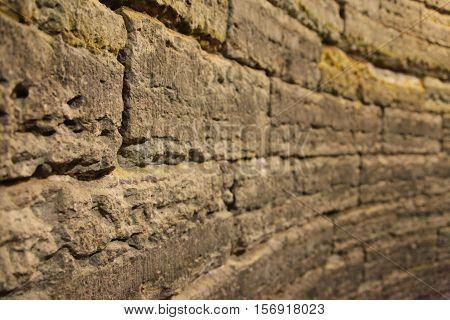 old masonry and shattered bricks, texture masonry