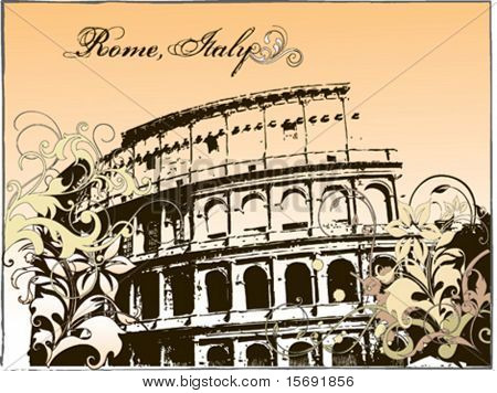 Vector illustration of the Colosseum in Rome, Italy