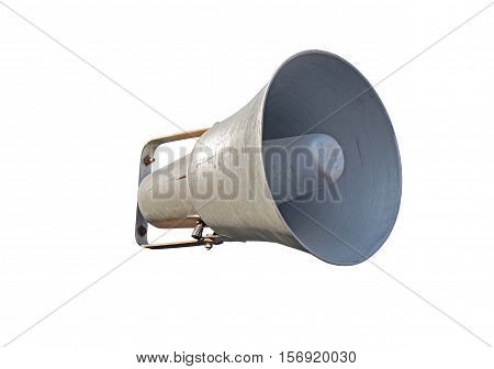 the Speaker. Megaphone isolated over white background