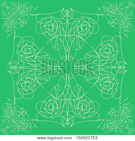abstract seamless pattern vector design bound green