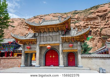 Cave Temple At Horse's Hoof Temple, Mati Si, China
