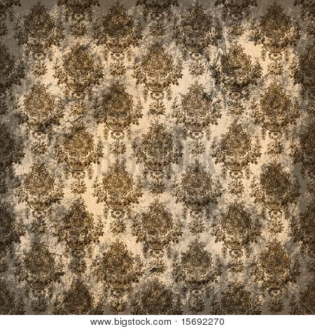 Brown vintage grungy old wallpaper