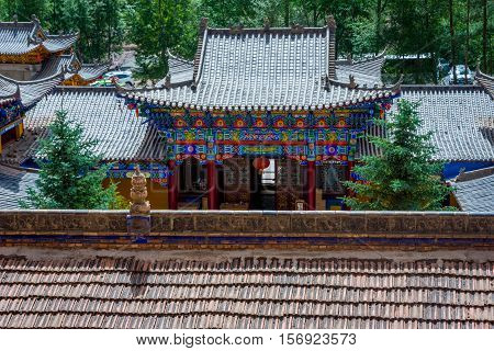 Roofs Of Horse's Hoof Temple, Mati Si Cave Temple, China