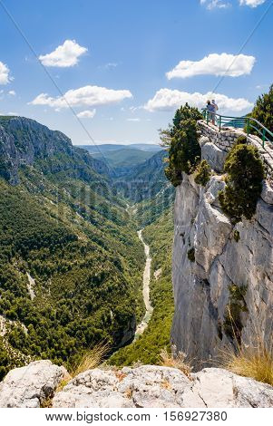 Landscapes details and views of The Verdon Gorge in south-eastern France Haut Provence.