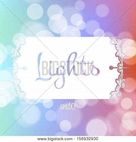 Stock fuzzy texture with bokeh effect and frame for text or title