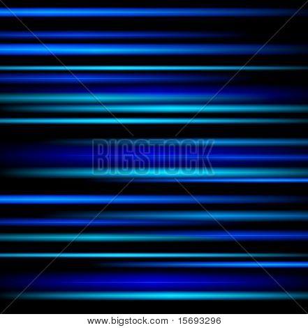 Blue light beams on black