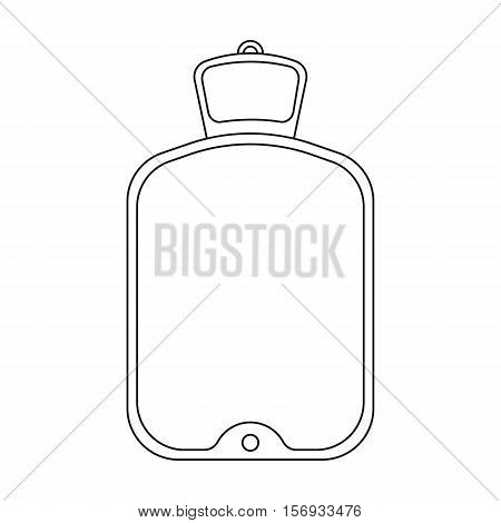 Warmer icon in outline style isolated on white background. Medicine and hospital symbol vector illustration.
