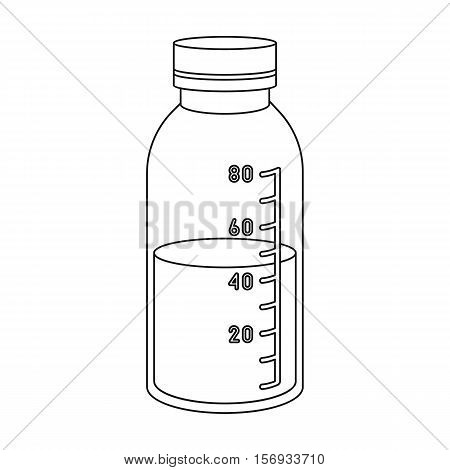 Mixture icon in outline style isolated on white background. Medicine and hospital symbol vector illustration.