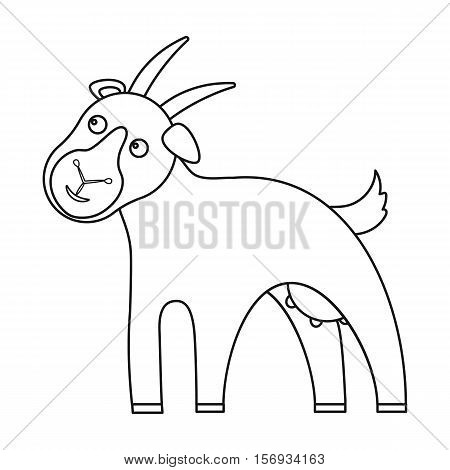 Goat icon in outline style isolated on white background. Milk symbol vector illustration.