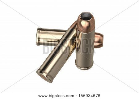 Bullet gun caliber for hunting and protection. 3D illustration