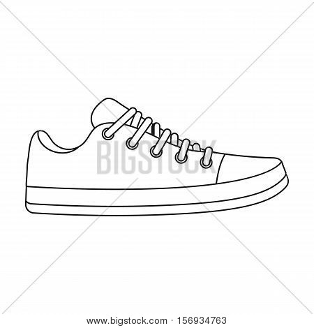 Gumshoes icon in outline style isolated on white background. Shoes symbol vector illustration.