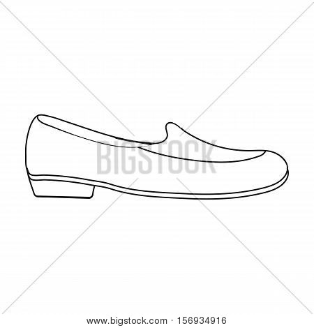Loafers icon in outline style isolated on white background. Shoes symbol vector illustration.