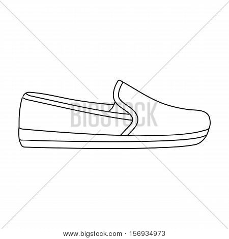 Moccasin icon in outline style isolated on white background. Shoes symbol vector illustration.