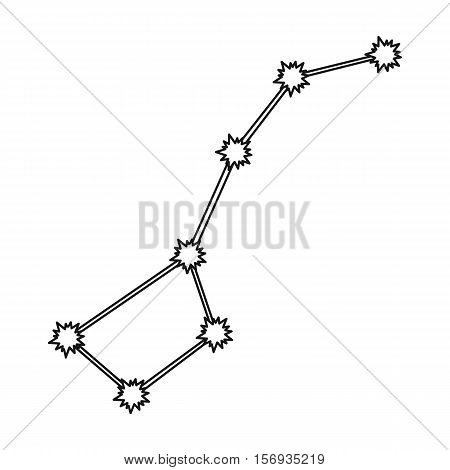 Ursa Major icon in outline style isolated on white background. Space symbol vector illustration.