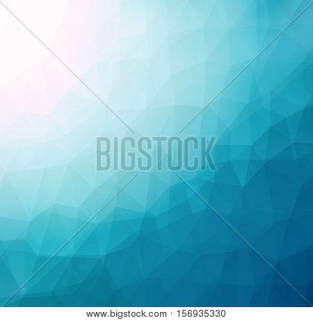 Abstract LowPoly Triangular Geometric Blue Background JPG