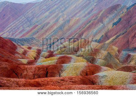 Rainbow Mountains, Zhangye Danxia Geopark, China