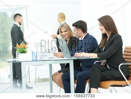 Successful busines team  in an modern office