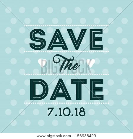 save the date card. colorful design. vector illustration