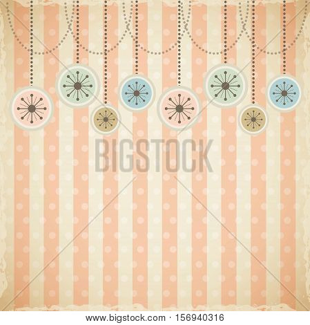 christmas ball hanging background. colorful design. vector illustration