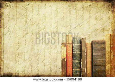 Grunge hintergrund Vintage Books mit textfreiraum