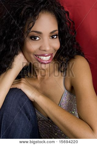 Portrait of a beautiful african american woman
