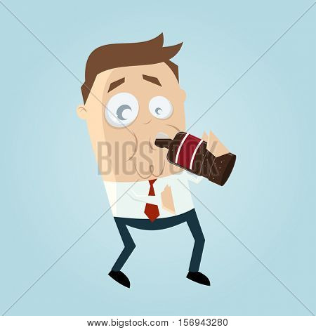 clipart of a man drinking cola