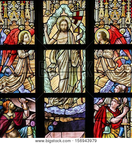 Stained Glass - Resurrection Of Jesus