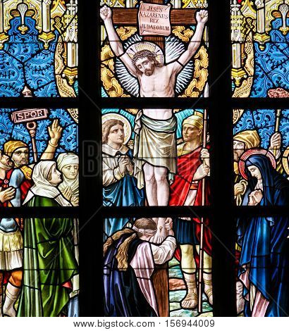 Stained Glass - Jesus On The Cross