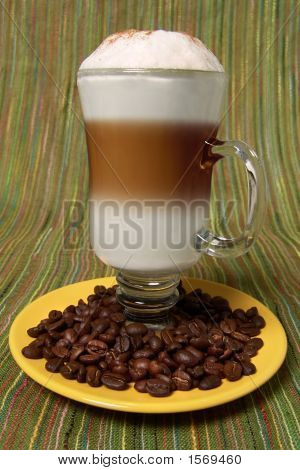 Capuccino And Beans Close